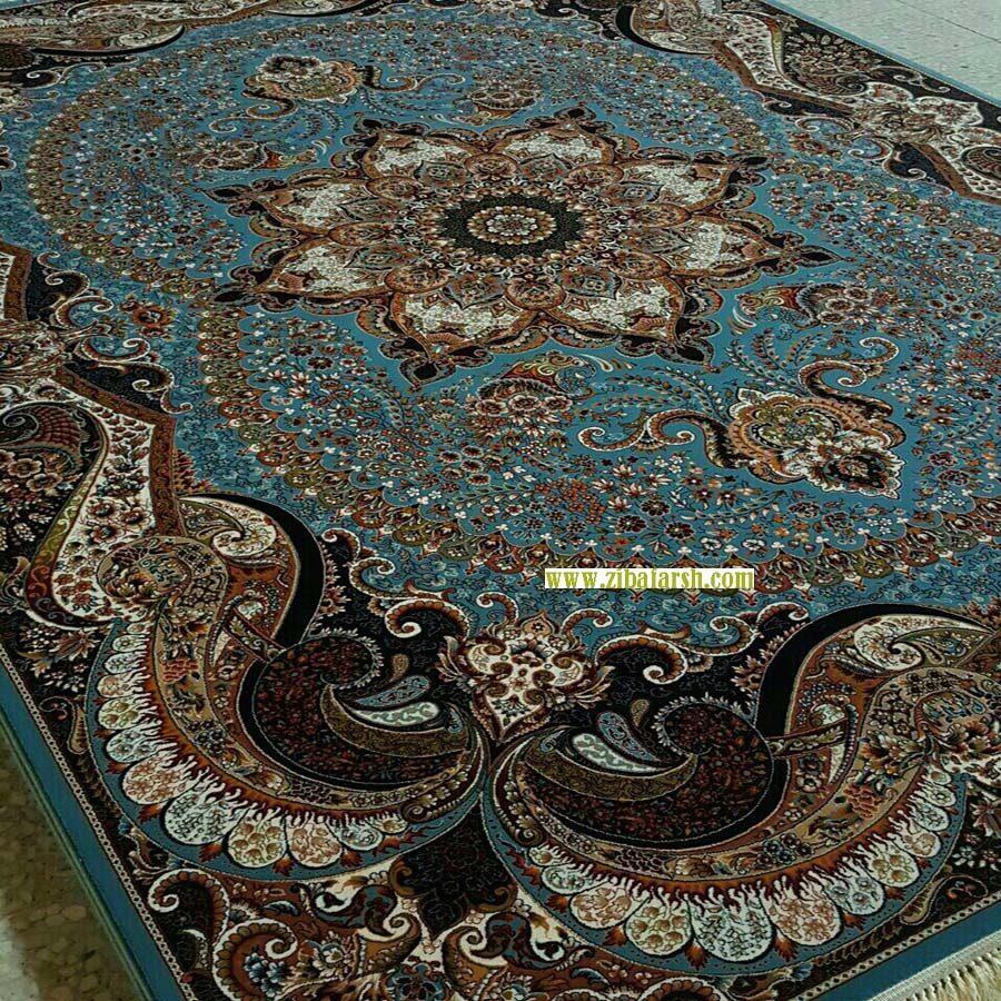 فرش چیچک آبی